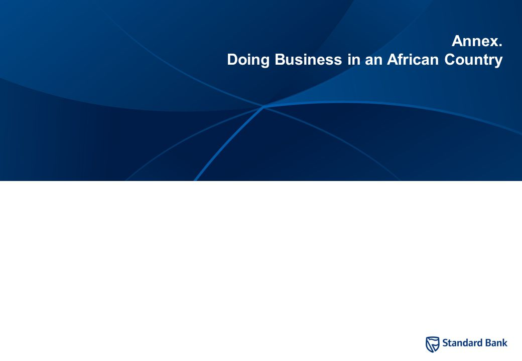12 Annex. Doing Business in an African Country