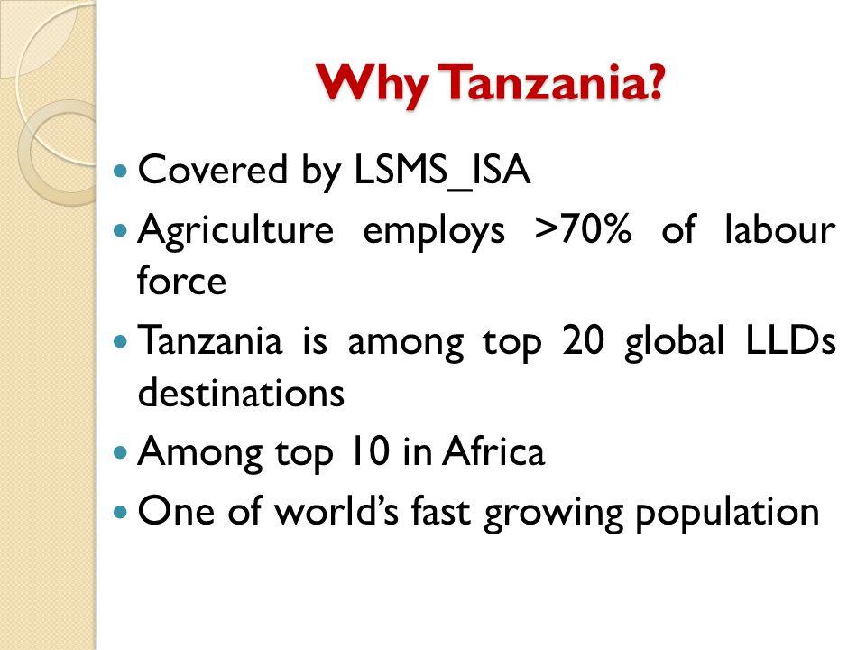Why Tanzania.