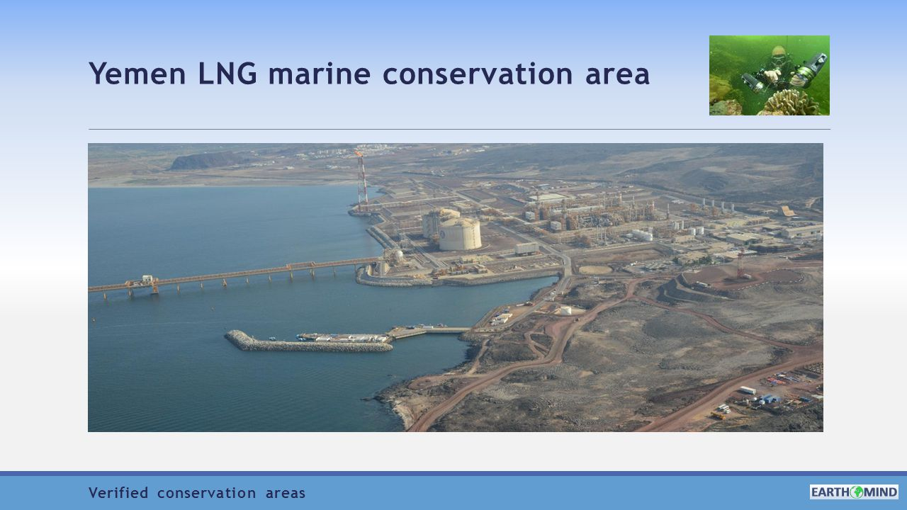 Yemen LNG marine conservation area Verified conservation areas