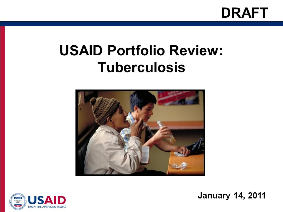 USAID Portfolio Review: Tuberculosis January 14, 2011 1 DRAFT