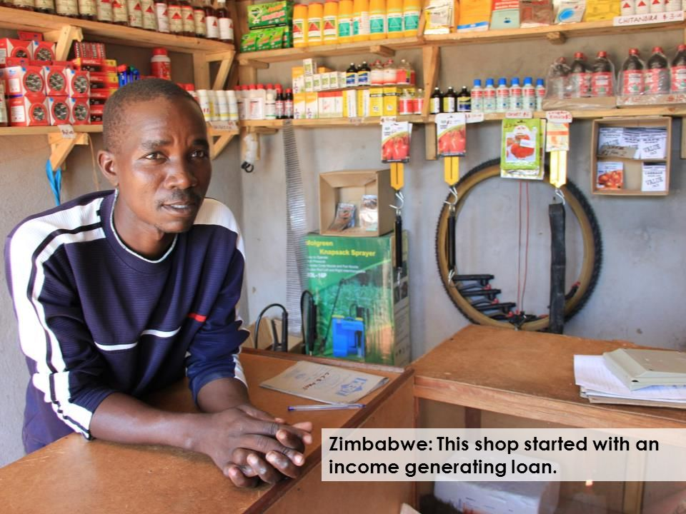 Zimbabwe: This shop started with an income generating loan.