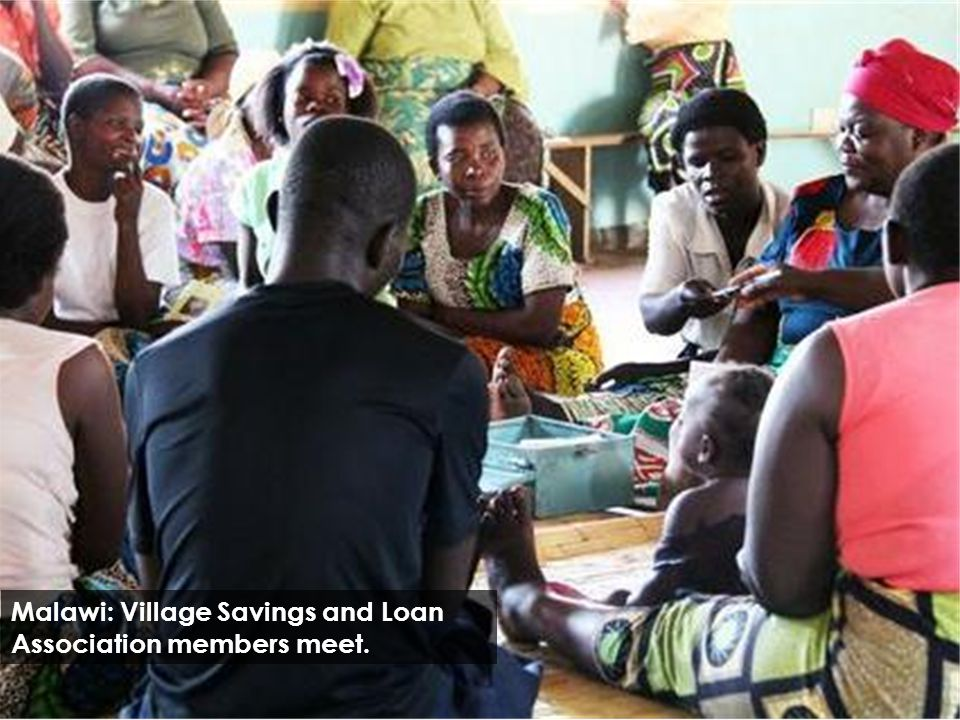 Malawi: Village Savings and Loan Association members meet.