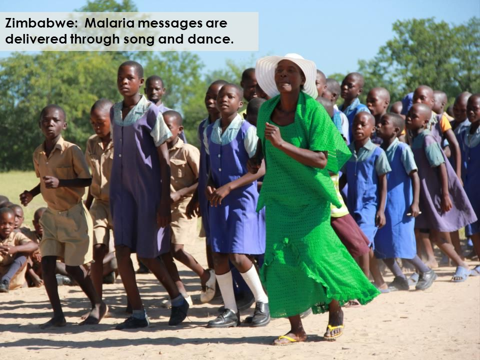 Zimbabwe: Malaria messages are delivered through song and dance.