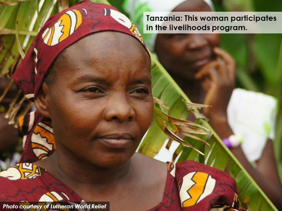 Photo courtesy of Lutheran World Relief Tanzania: This woman participates in the livelihoods program.