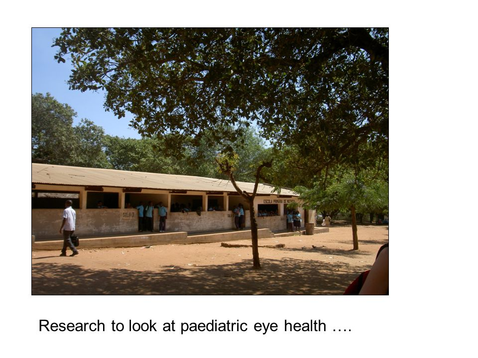Research to look at paediatric eye health ….
