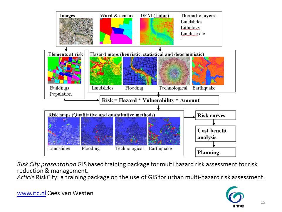 Risk City presentation GIS based training package for multi hazard risk assessment for risk reduction & management. Article RiskCity: a training packa