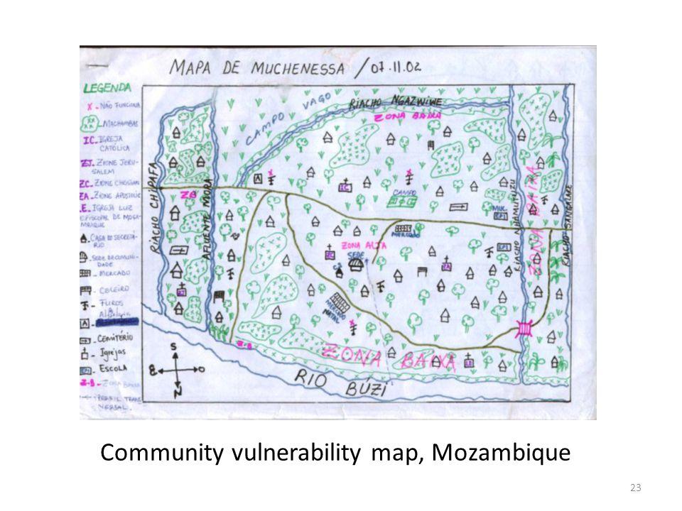Community vulnerability map, Mozambique 23