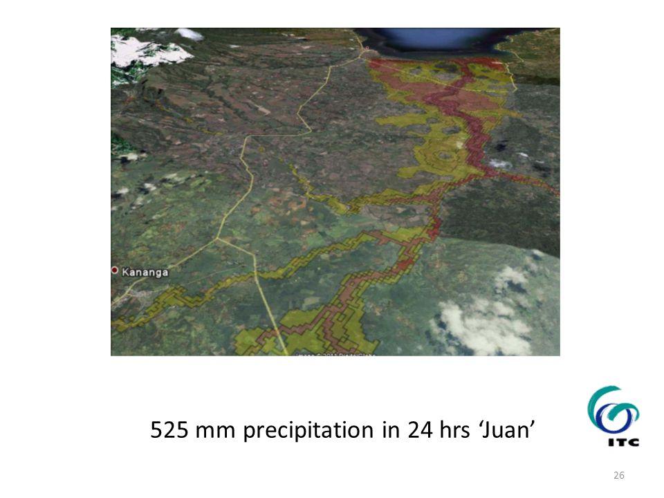 525 mm precipitation in 24 hrs 'Juan' 26