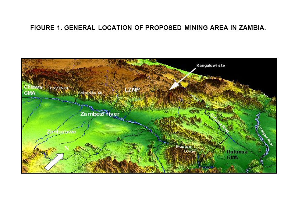 FIGURE 1. GENERAL LOCATION OF PROPOSED MINING AREA IN ZAMBIA.