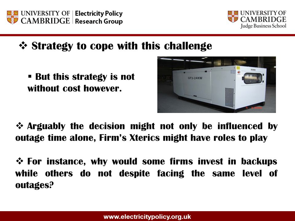 www.electricitypolicy.org.uk  Strategy to cope with this challenge  But this strategy is not without cost however.