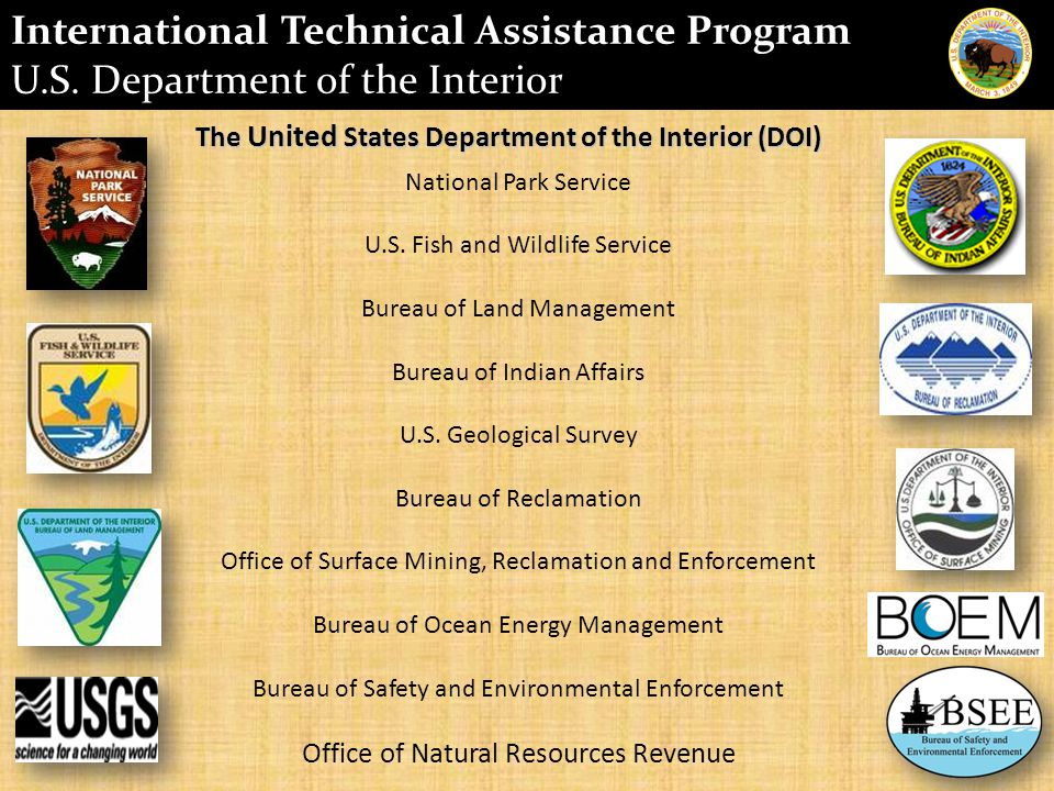 The United States Department of the Interior (DOI) National Park Service U.S.