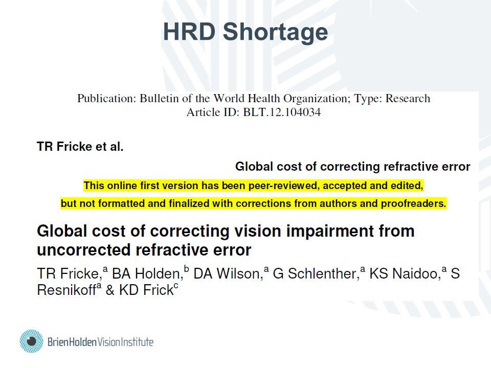 HRD Shortage