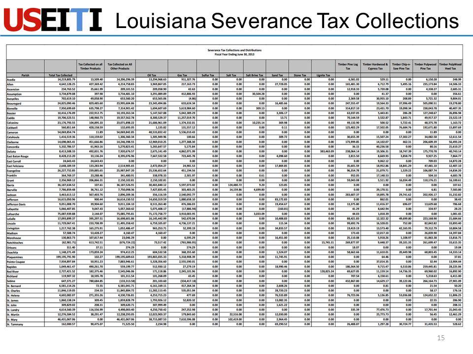 Louisiana Severance Tax Collections 15