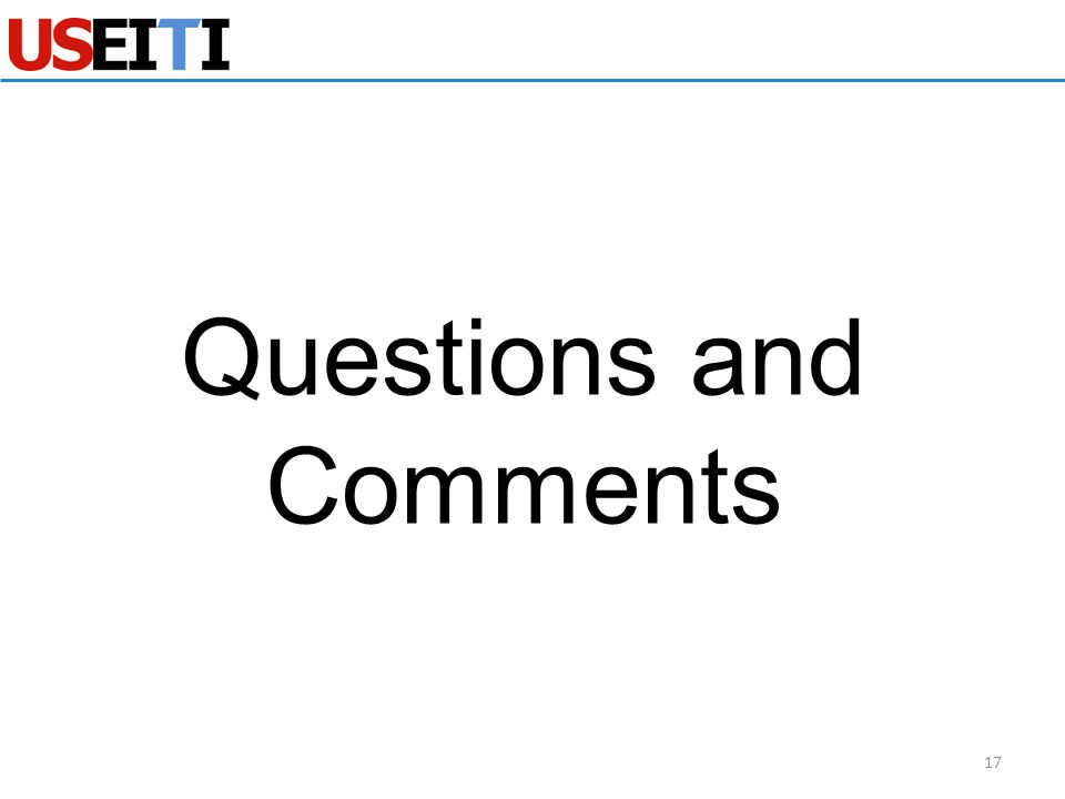 Questions and Comments 17