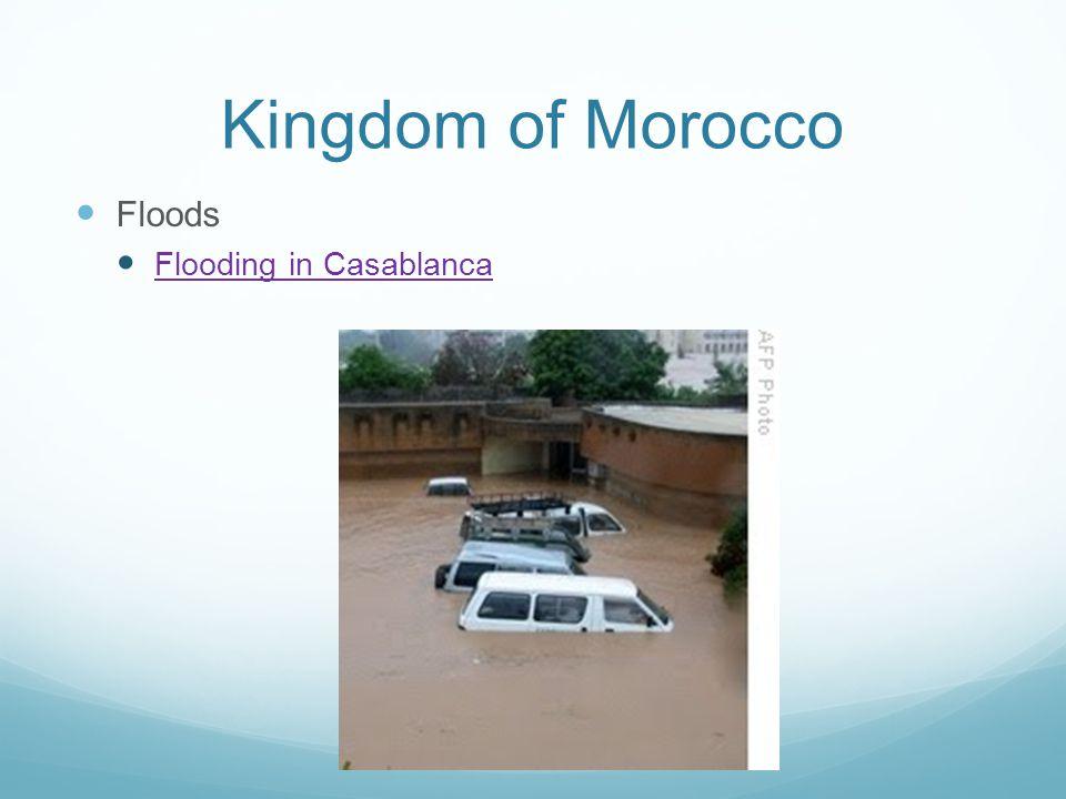 Kingdom of Morocco Floods Flooding in Casablanca
