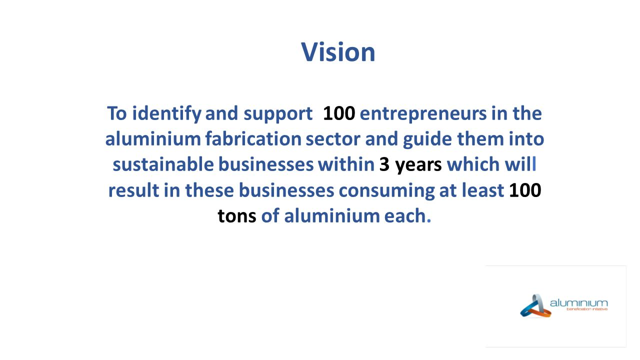 To identify entrepreneurs [high potential] with innovative ideas and business acumen to establish, grow and sustain successful enterprises.