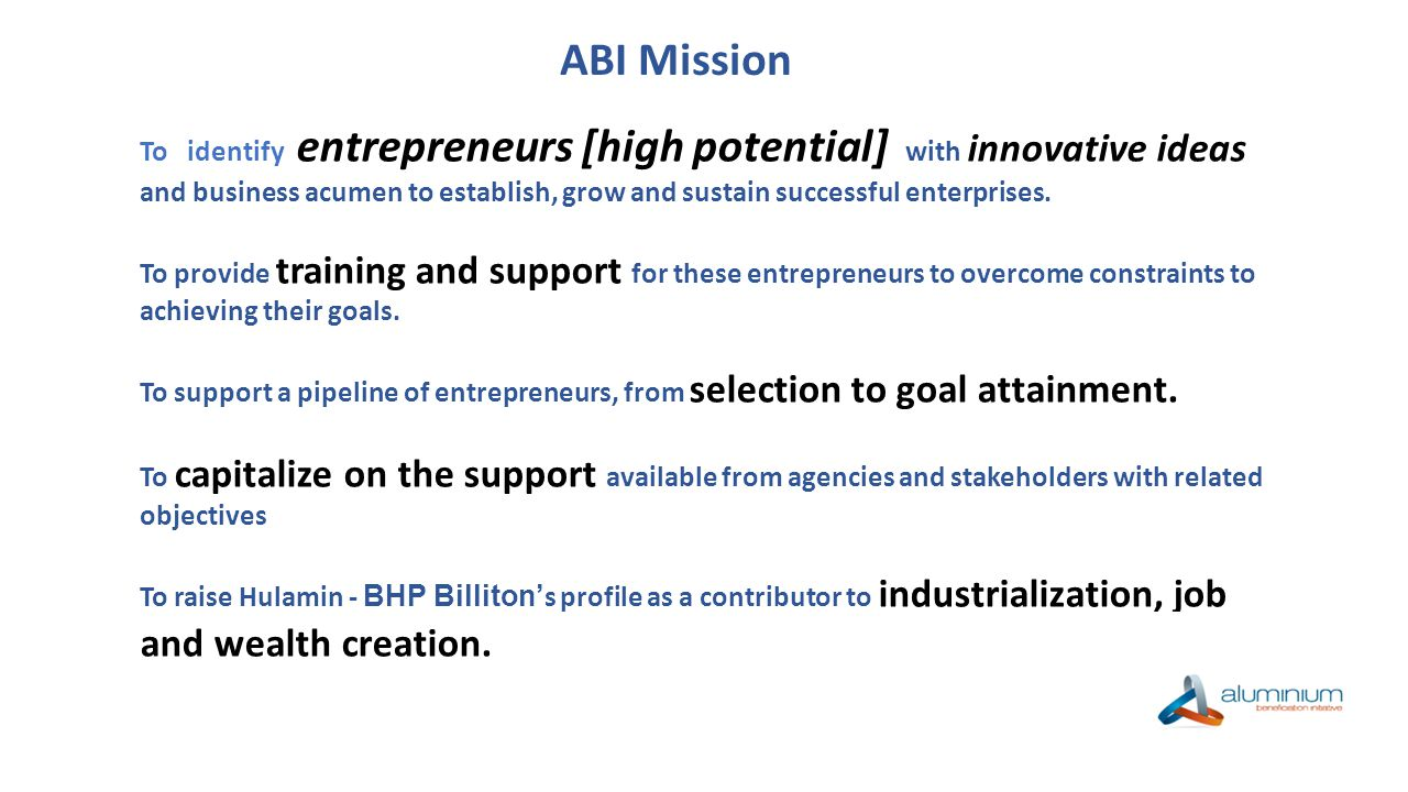 1.Since 1996,Hulamin undertook to develop and grow African Enterprises.