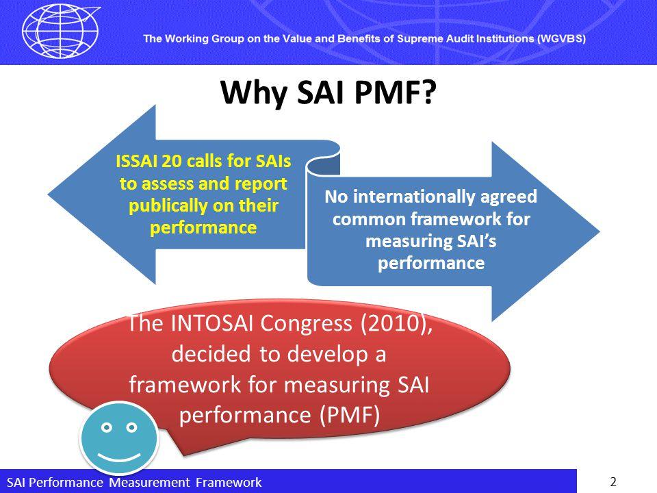 SAI Performance Measurement Framework 3 What is SAI PMF .