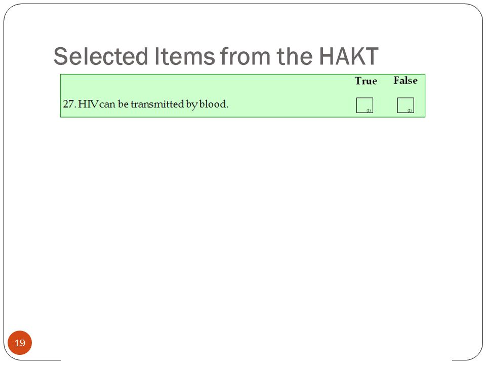 19 Selected Items from the HAKT