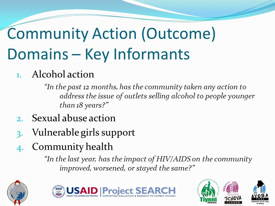 Community Action (Outcome) Domains – Key Informants 1.