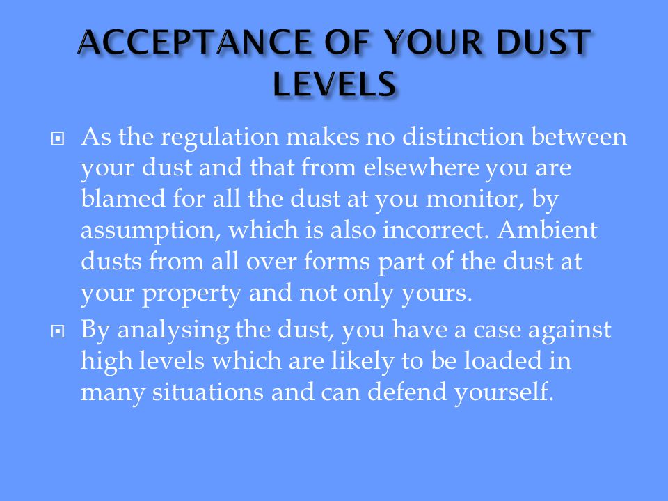 THE ASSOCIATION BETWEEN ENVIRONMENTAL AGENCIES AND DustWatch IN MOST GEOGRAPHICAL AREAS OF SOUTHERN AFRICA WILL BE AVAILABLE TO YOUR SITE
