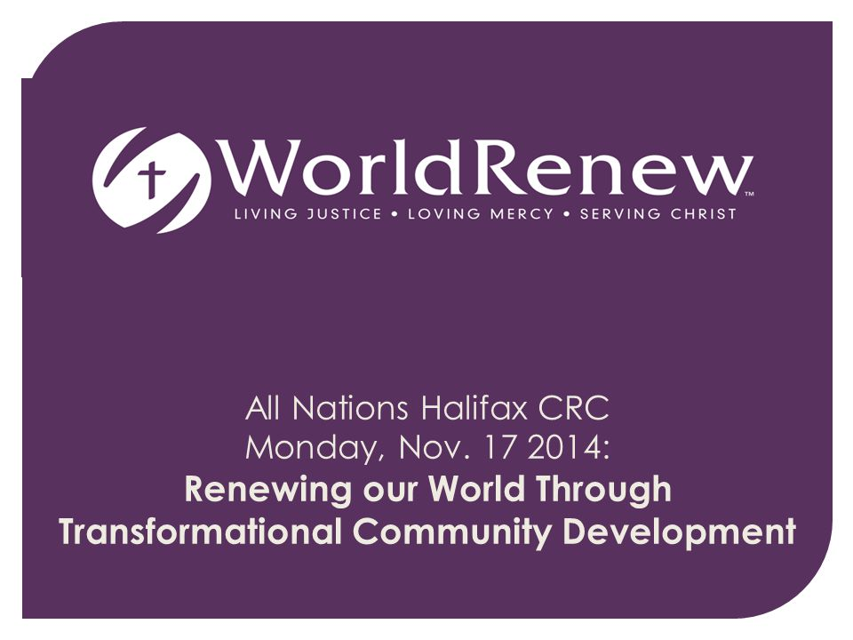 All Nations Halifax CRC Monday, Nov.