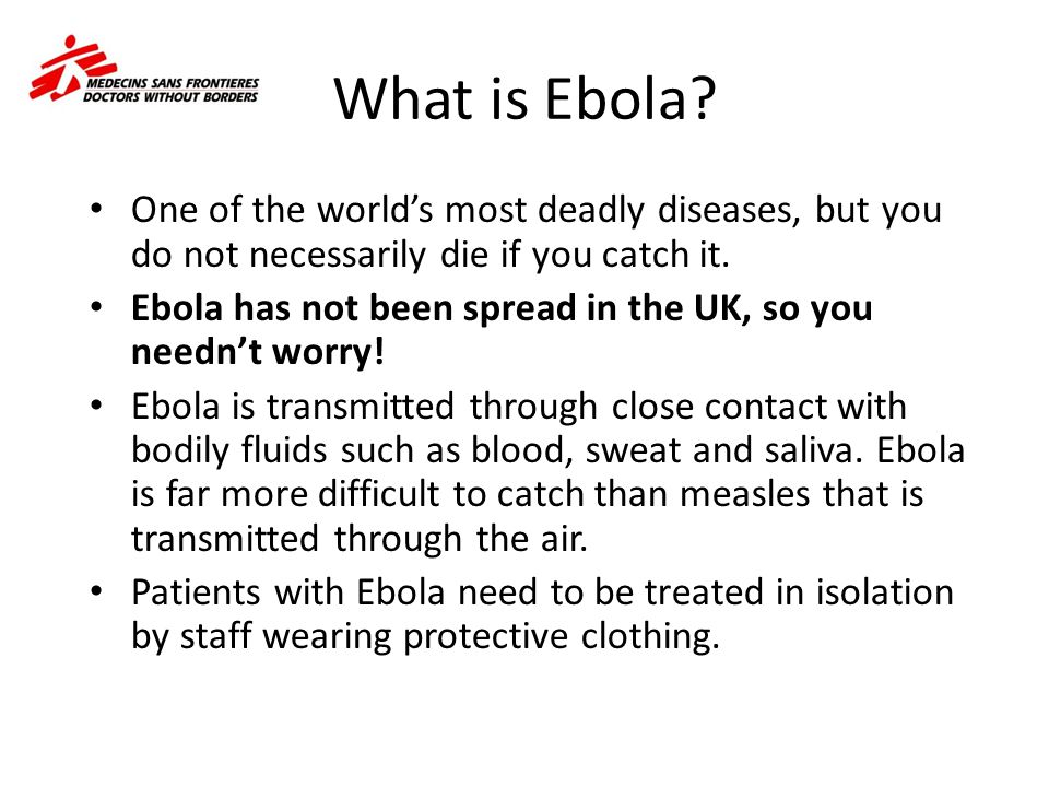 Symptoms The feeling was overpowering.Ebola is like a sickness from a different planet.