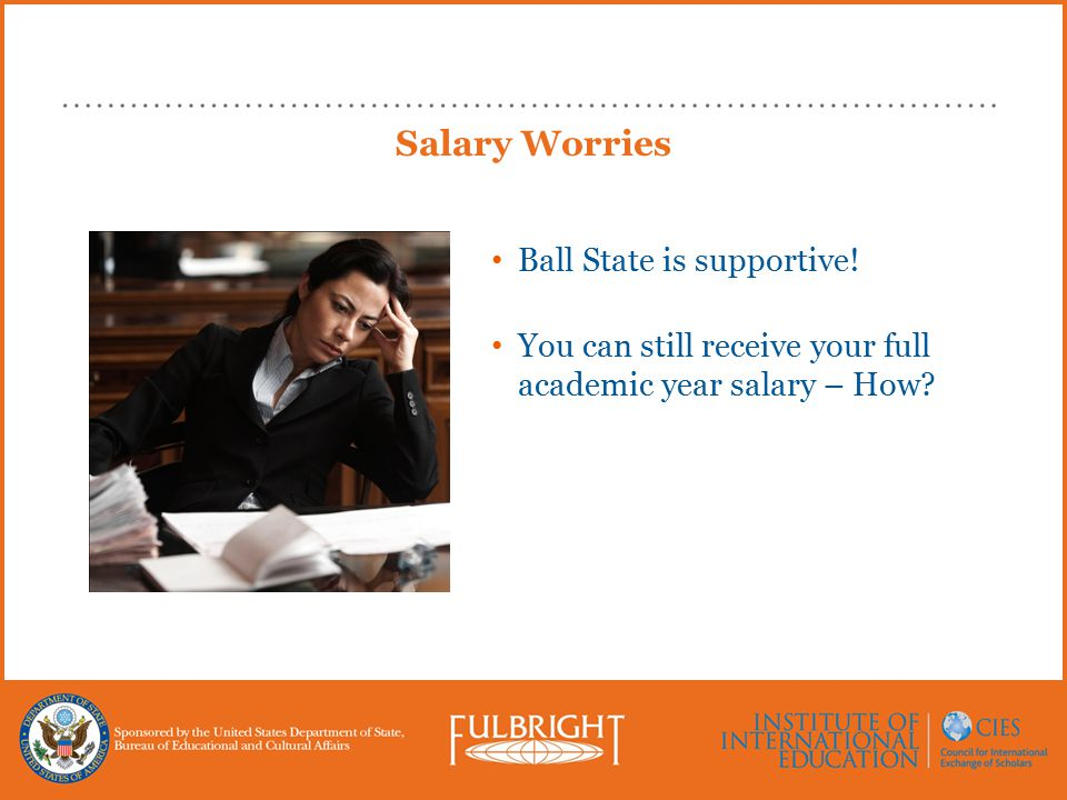 Salary Worries Ball State is supportive.