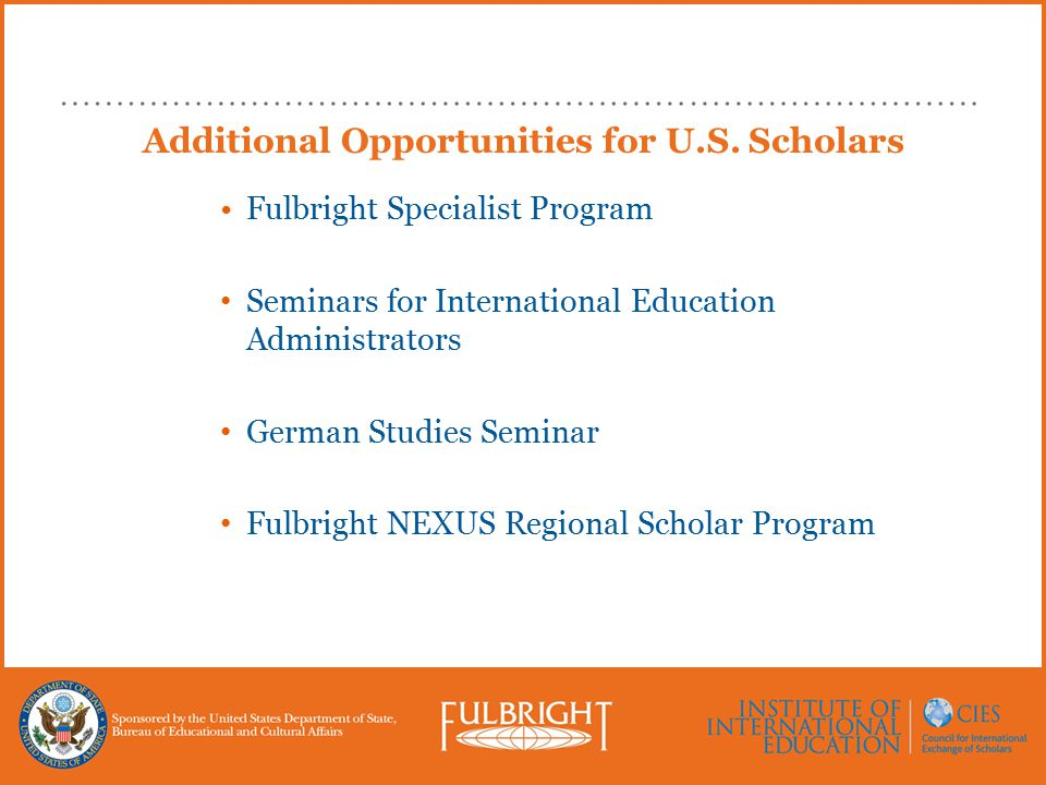 Additional Opportunities for U.S.