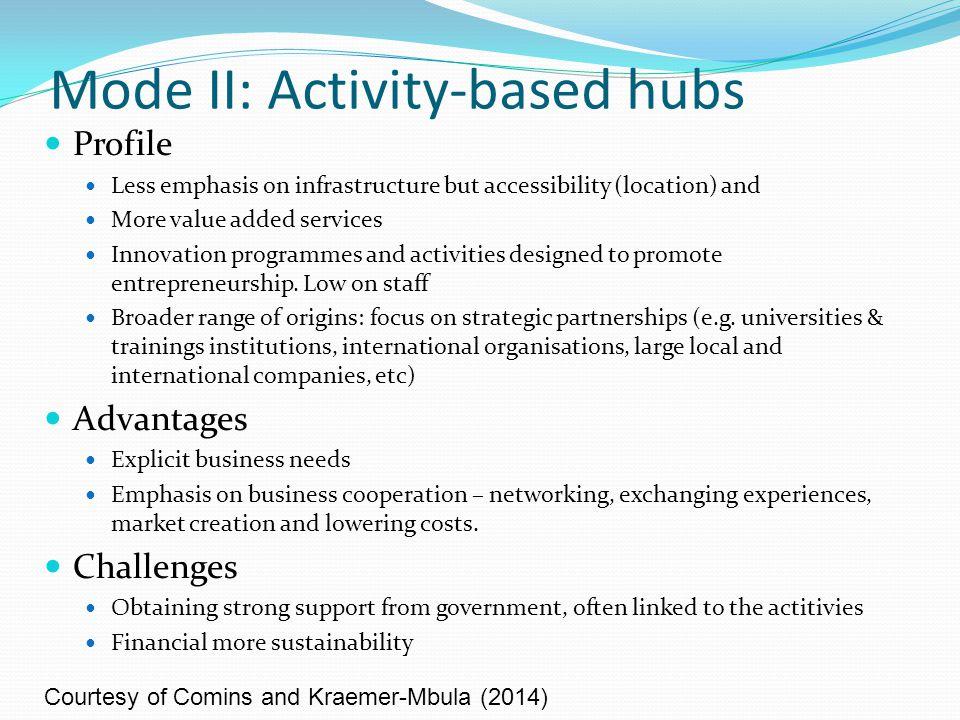 Mode III: Co-creation hubs Profile Broader set of goals (e.g.
