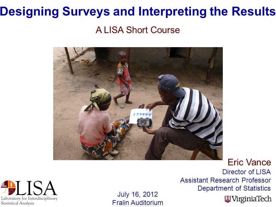 1.Introductions2. Survey Fundamentals 3. Questionnaire Design 4.