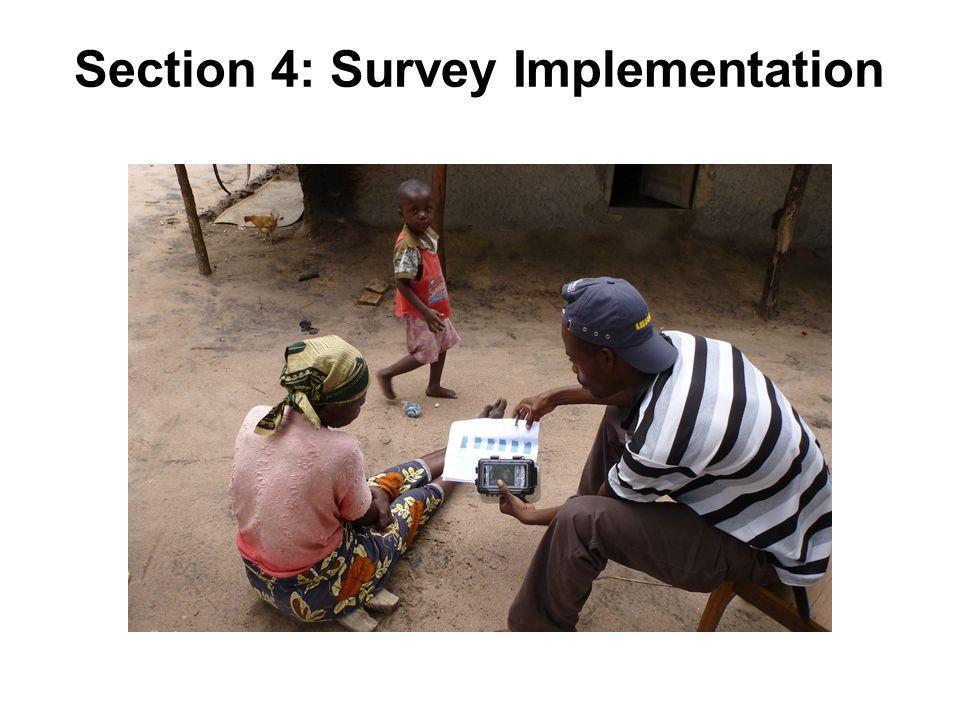Section 4: Survey Implementation