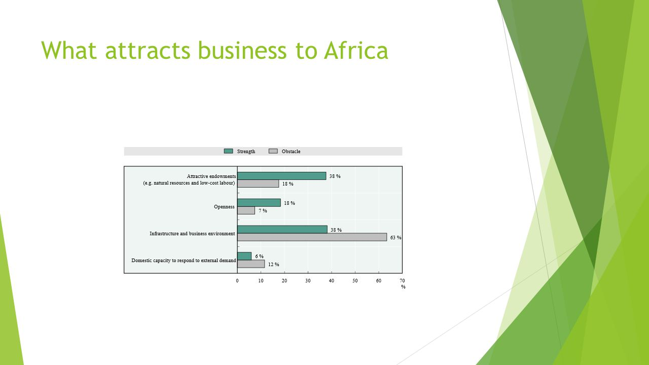 What attracts business to Africa