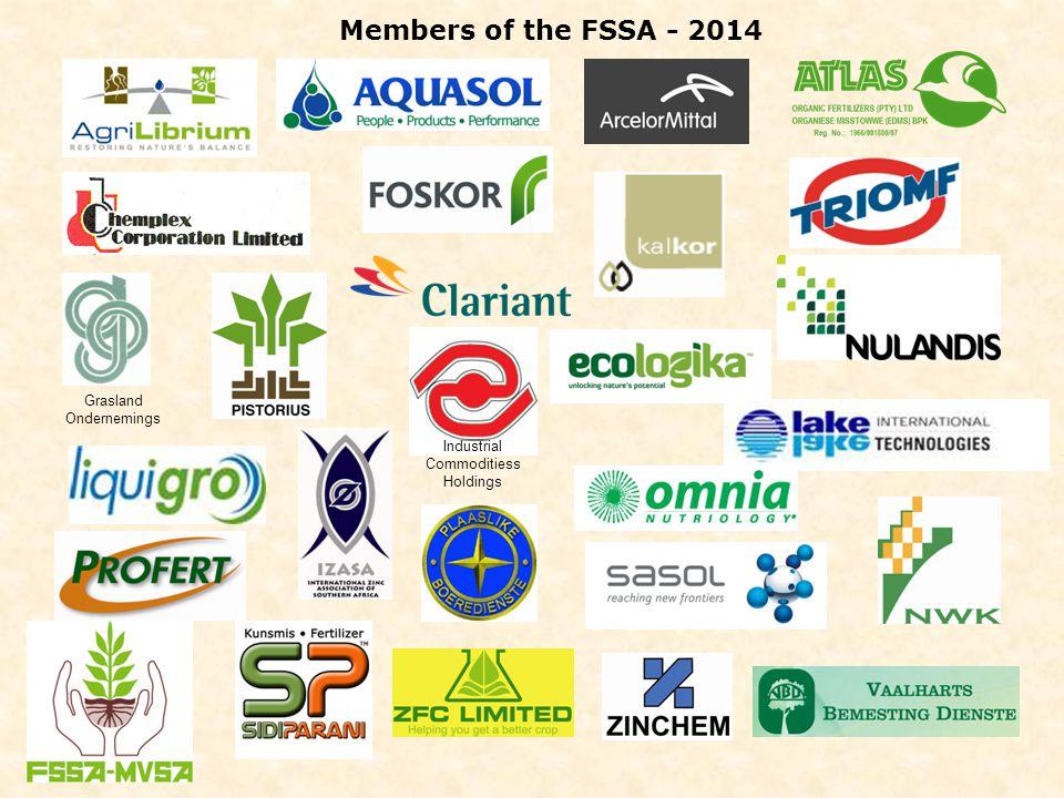 Grasland Ondernemings Industrial Commoditiess Holdings Members of the FSSA - 2014