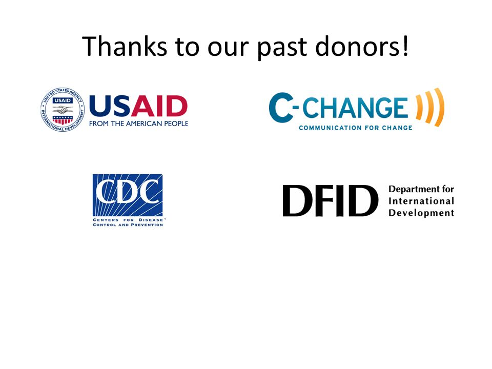 Thanks to our past donors!