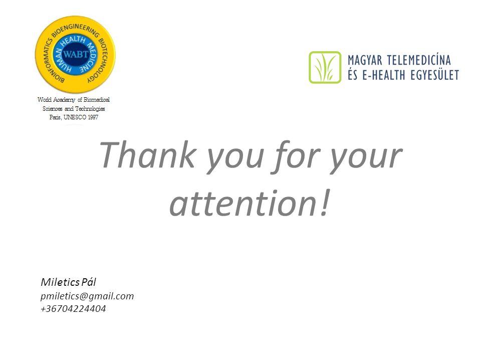 Thank you for your attention! Miletics Pál pmiletics@gmail.com +36704224404
