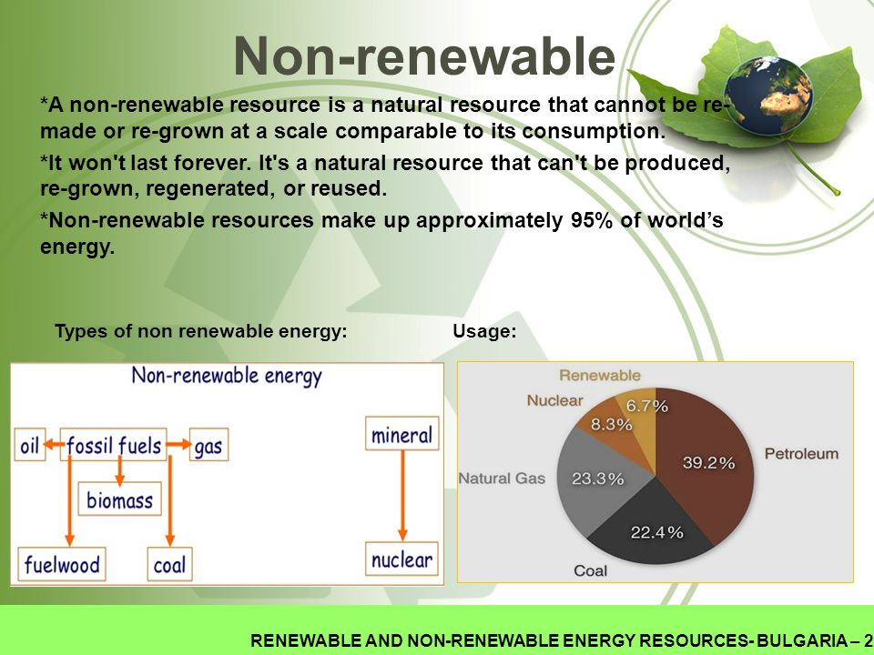 Non-renewable *A non-renewable resource is a natural resource that cannot be re- made or re-grown at a scale comparable to its consumption.