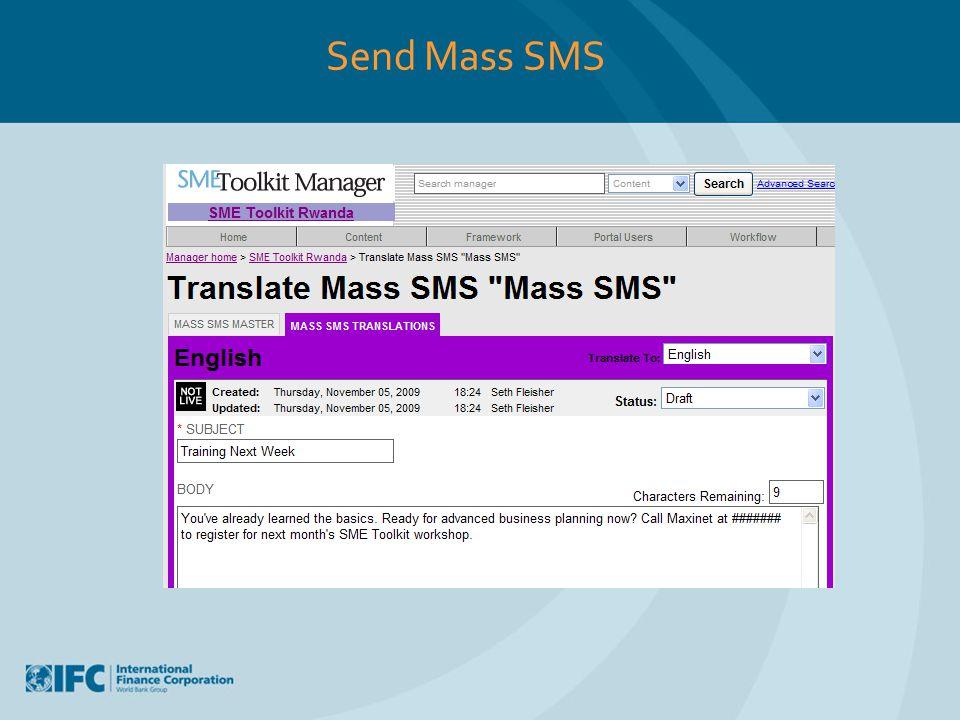 Send Mass SMS