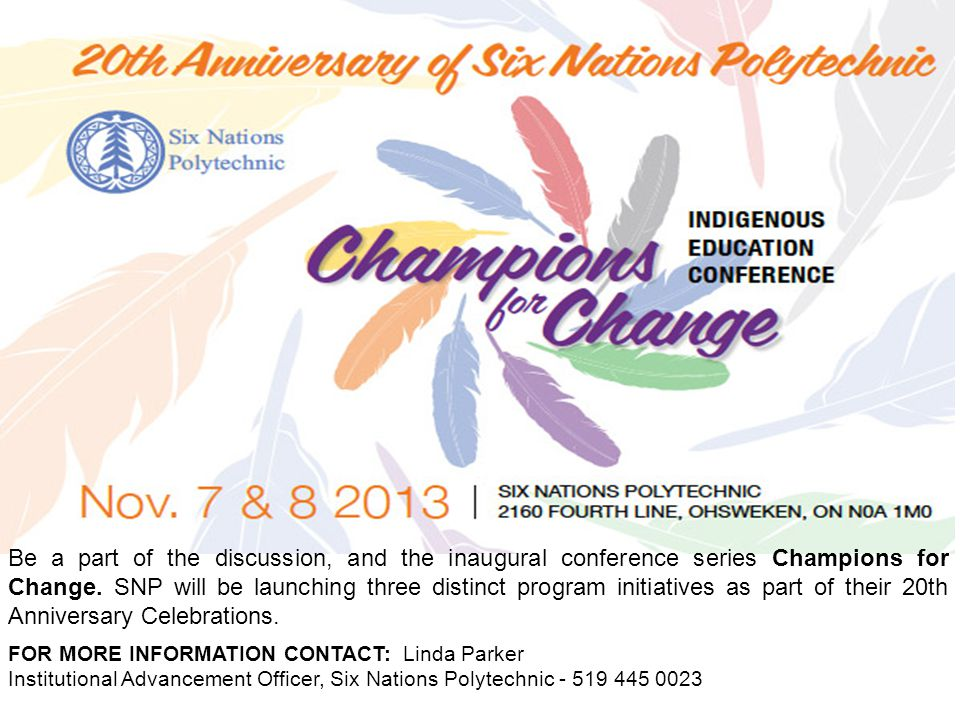 Be a part of the discussion, and the inaugural conference series Champions for Change.