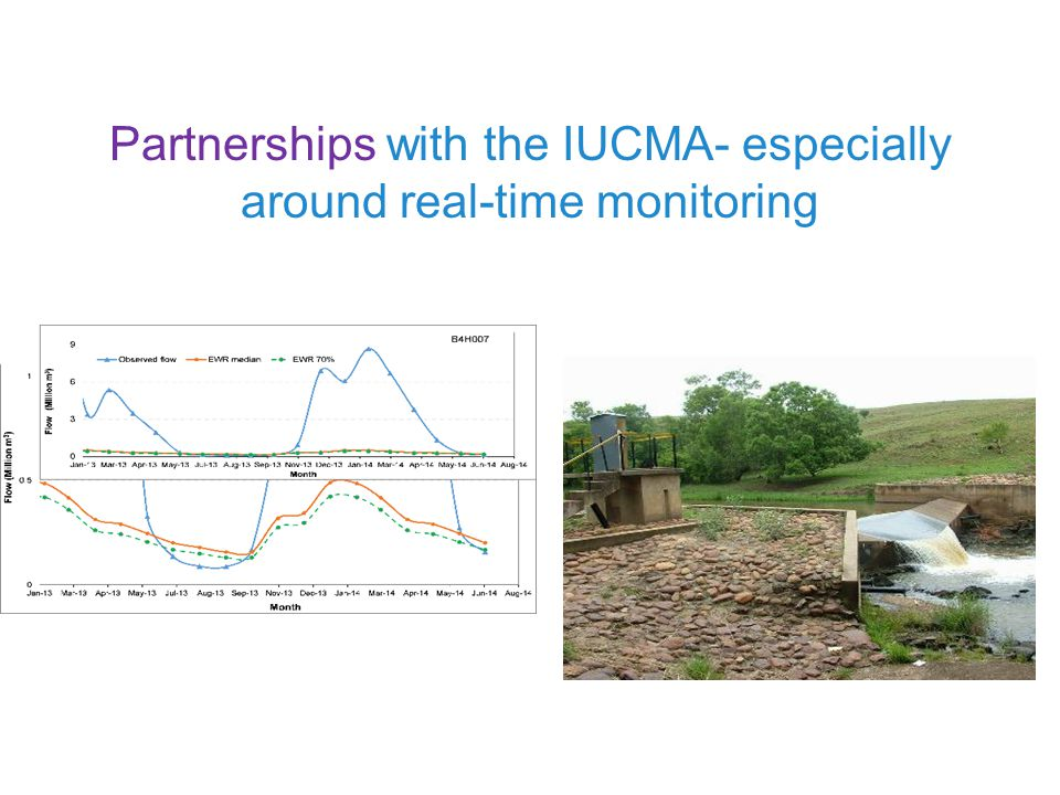 Partnerships with the IUCMA- especially around real-time monitoring