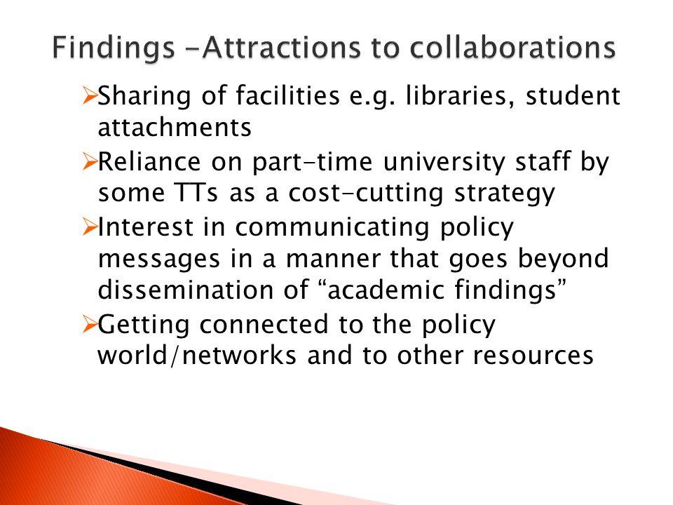  Sharing of facilities e.g.