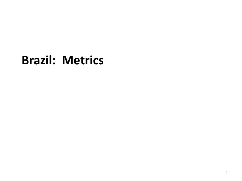 Metrics Why not look at the multiple indices that are available.