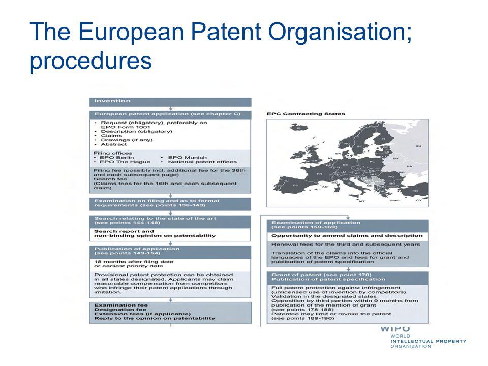 The European Patent Organisation; procedures