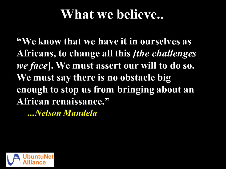 What we believe..