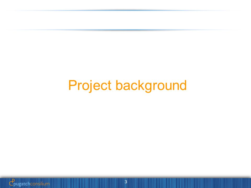 3 Project background