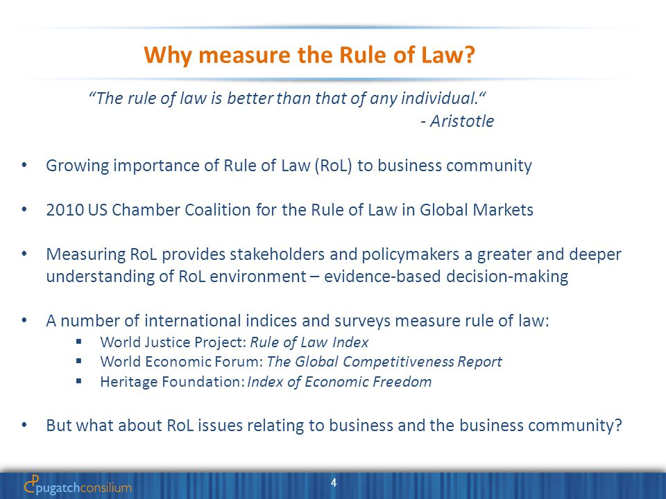 4 Why measure the Rule of Law.