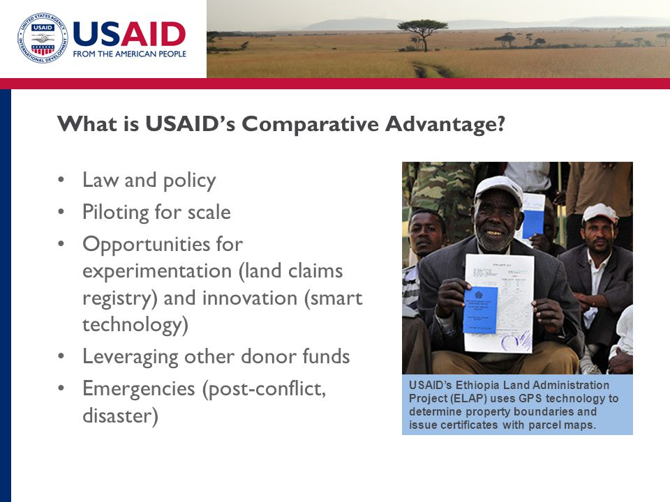 What is USAID's Comparative Advantage.