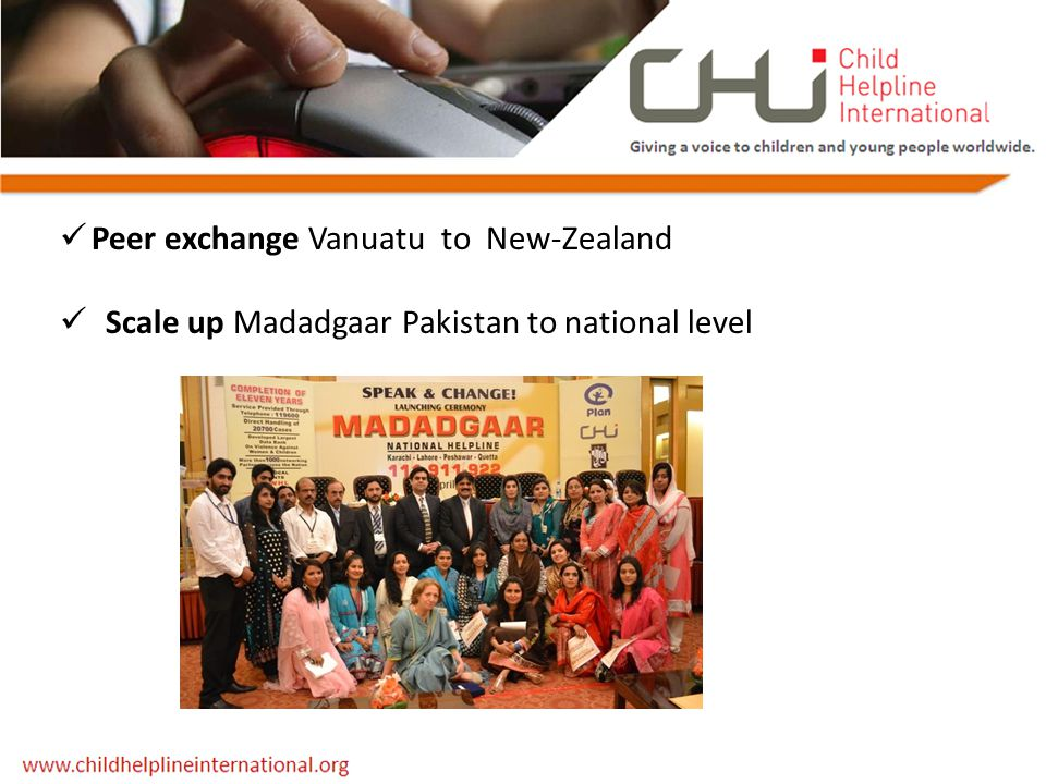 Peer exchange Vanuatu to New-Zealand Scale up Madadgaar Pakistan to national level
