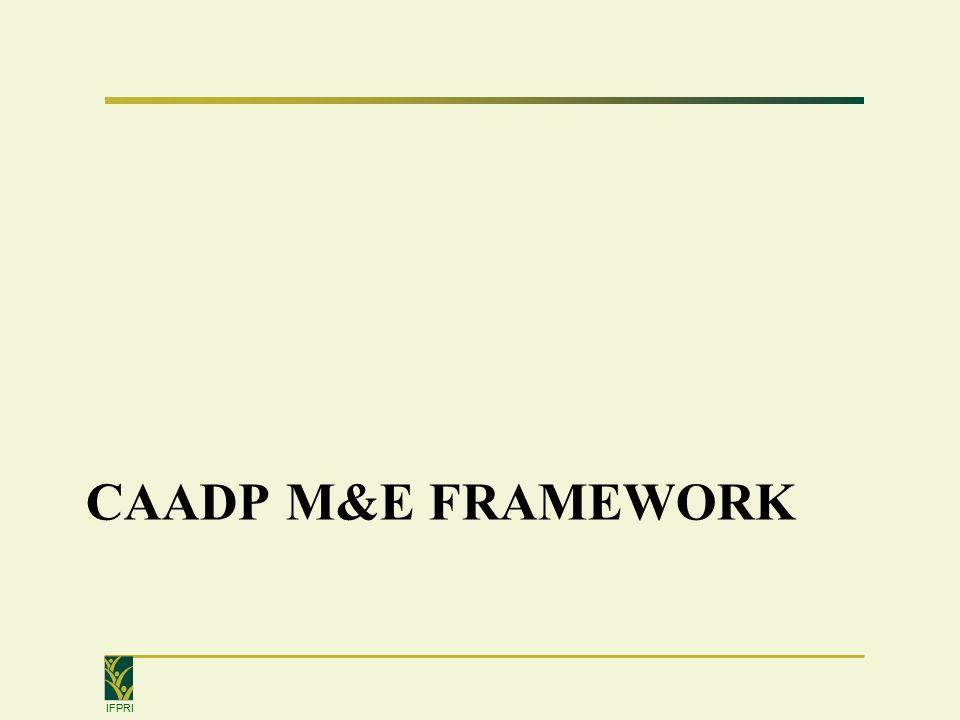 IFPRI CAADP M&E FRAMEWORK