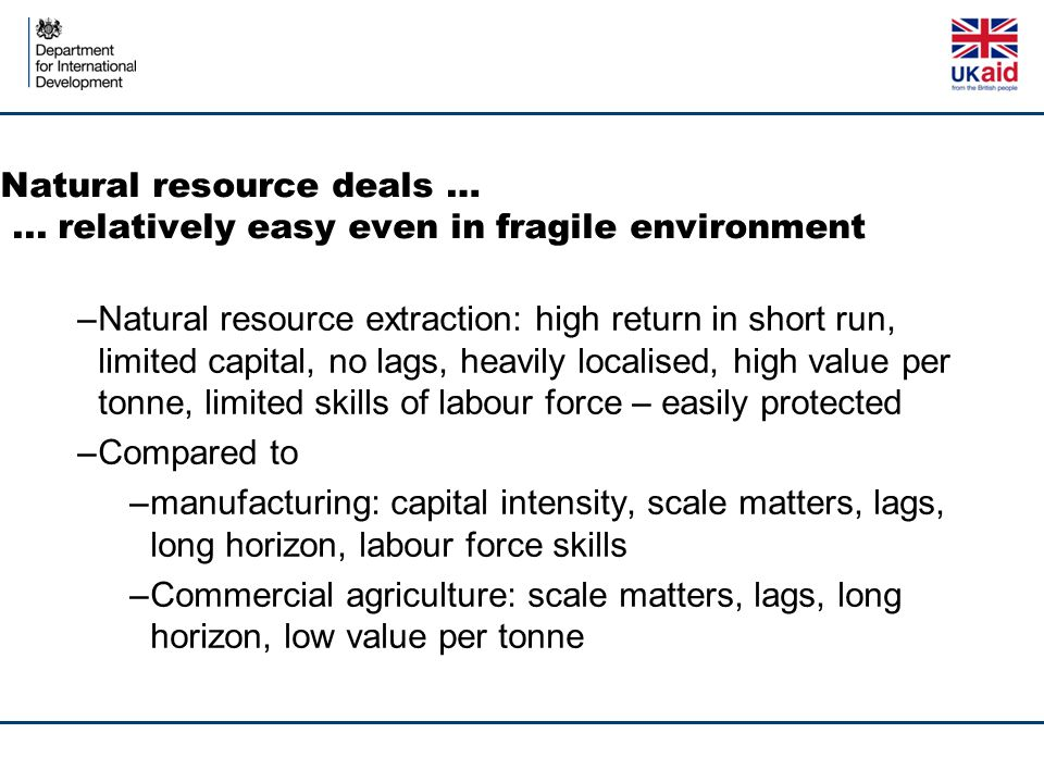 Natural resource deals …...